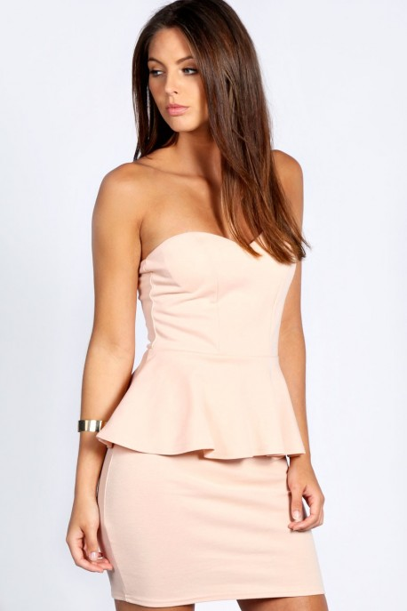 Sarah Sweetheart Peplum Dress
